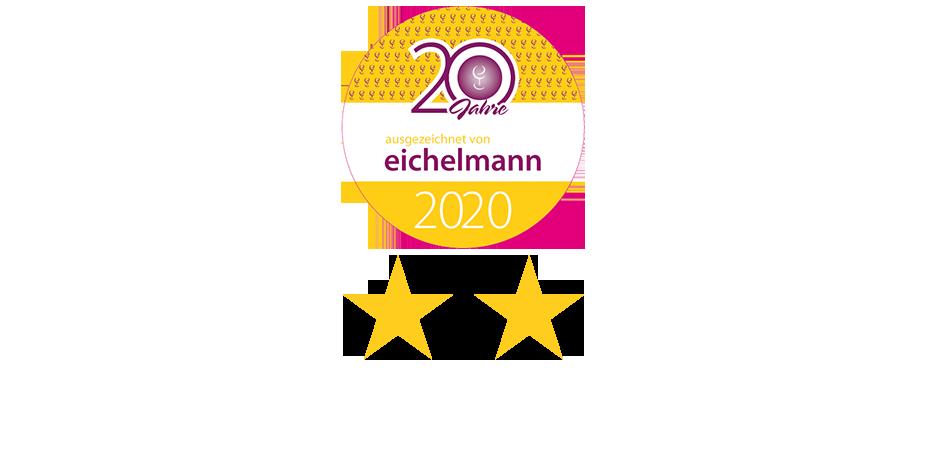 Auszeichung Eichelmann 2 Sterne 2020